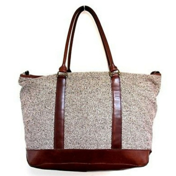 Magnificent L L Bean Tweed Leather Weekender Bag Unemploymentrelief Wooden Chair Designs For Living Room Unemploymentrelieforg